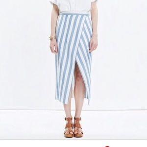 NWT Madewell Striped Overlay Skirt